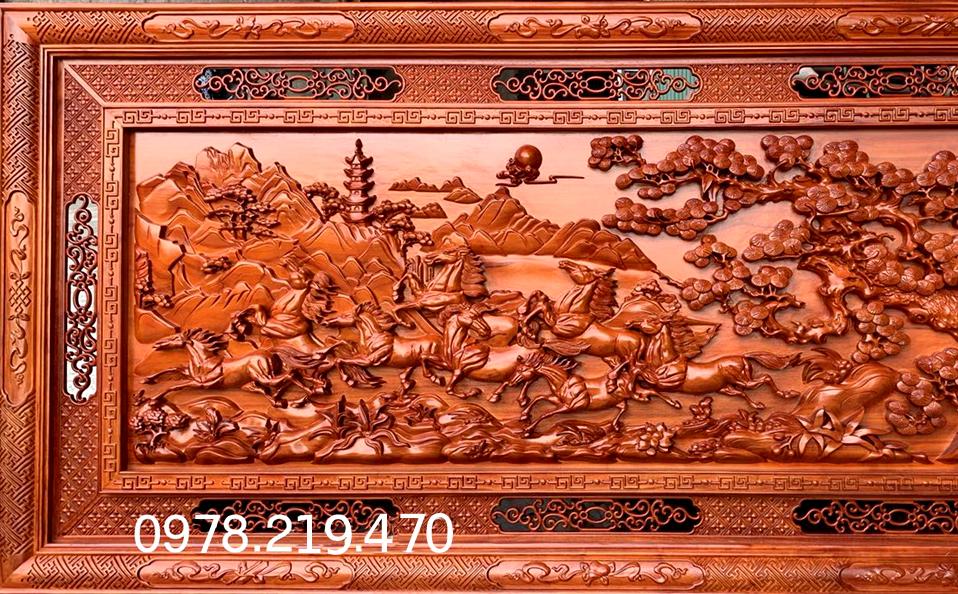 G iá Mua tranh gỗ tphcm - Tranh gỗ mã đáo thành công - NQMD09 (3)