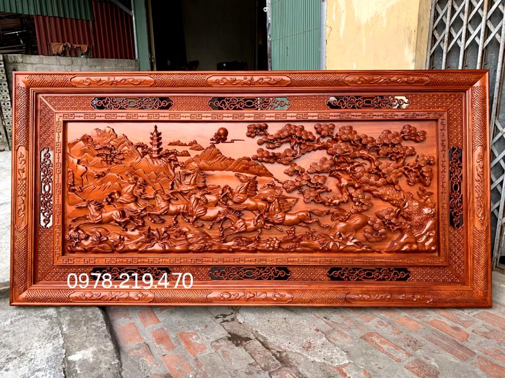 Giá Mua tranh gỗ tphcm - Tranh gỗ mã đáo thành công - NQMD09