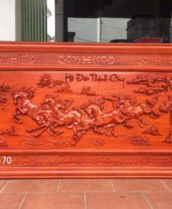 Mua tranh gỗ ở đâu - tranh gỗ mã đáo thành công - HT05 A