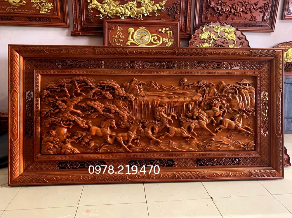 Mua tranh gỗ tphcm - Tranh gỗ mã đáo thành công - Tranh gỗ dục kênh bông
