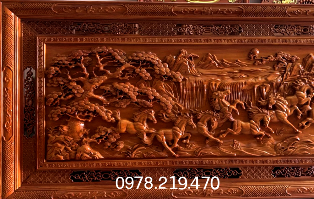 Mua tranh gỗ tphcm - Tranh gỗ mã đáo thành công - Tranh gỗ dục kênh bông - giấ tốt nhất