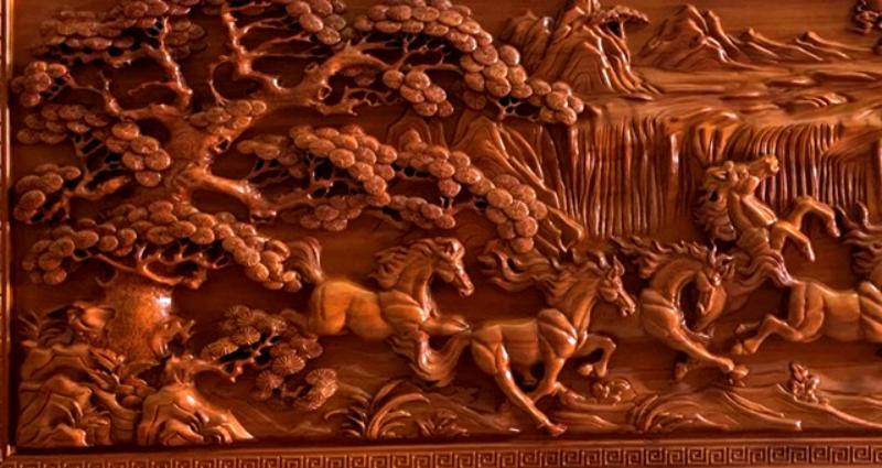 Mua tranh gỗ tphcm - Tranh gỗ mã đáo thành công - Tranh gỗ dục kênh bông - giấ tốt nhất - giao toàn quốc Malanaz