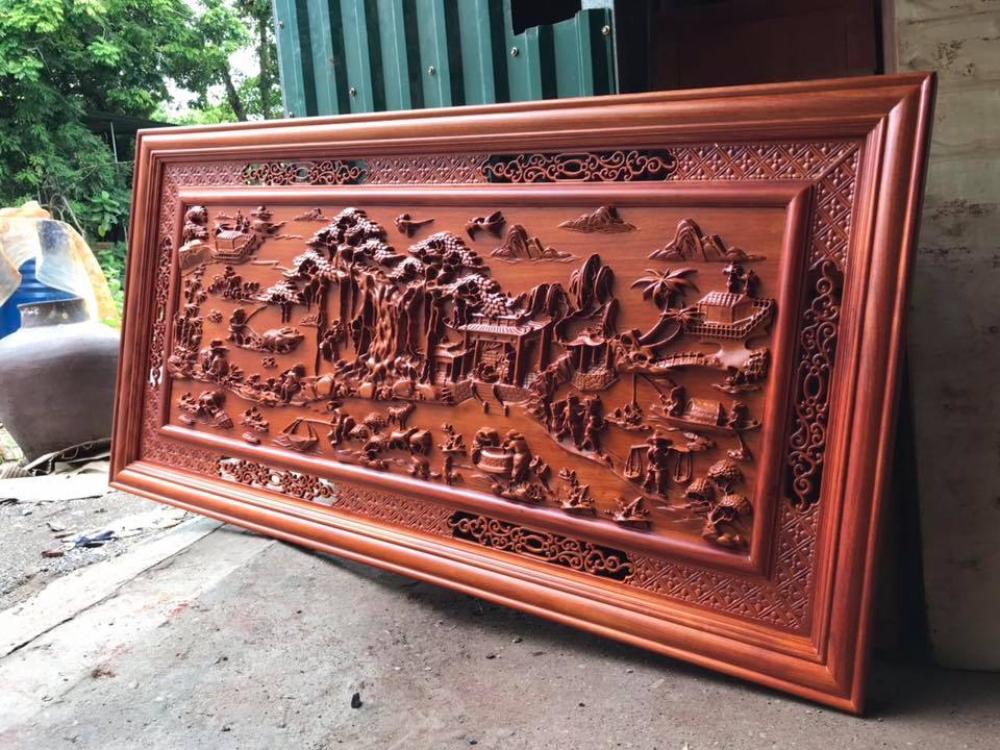 Tranh gỗ đồng quê kích thước 155x79x4 MC02 Malanaz Shopping