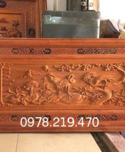 Tranh gỗ đục tay - 127x67x4 - NQTH02