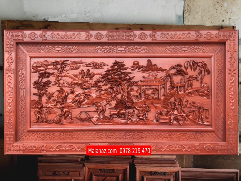 Tranh gỗ cao cấp đồng quê - HTDQ10
