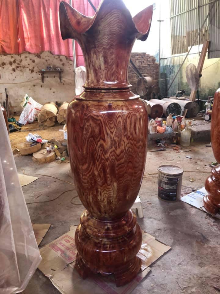 Lục Bình Phong thủy gỗ hương đá - 210 x 60 cm - TM42A