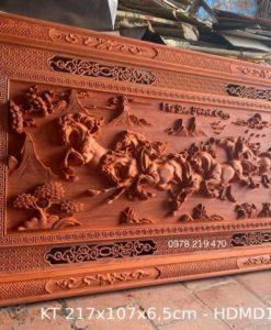 Tranh gỗ mã đáo - kt 217x107x6,5cm - HDMD13 (1)