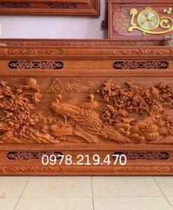 Tranh gỗ phu the viên mãn Kt 197x97x6 - NQPT11C (2)