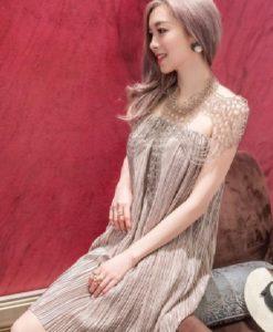 Đầm Kim Tuyến Rũ Dập Li Đính Cườm - TP64A (1)