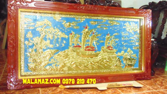 Mua tranh đồng ở đâu tphcm - Tranh thuận buồm - DTB18 Malanaz