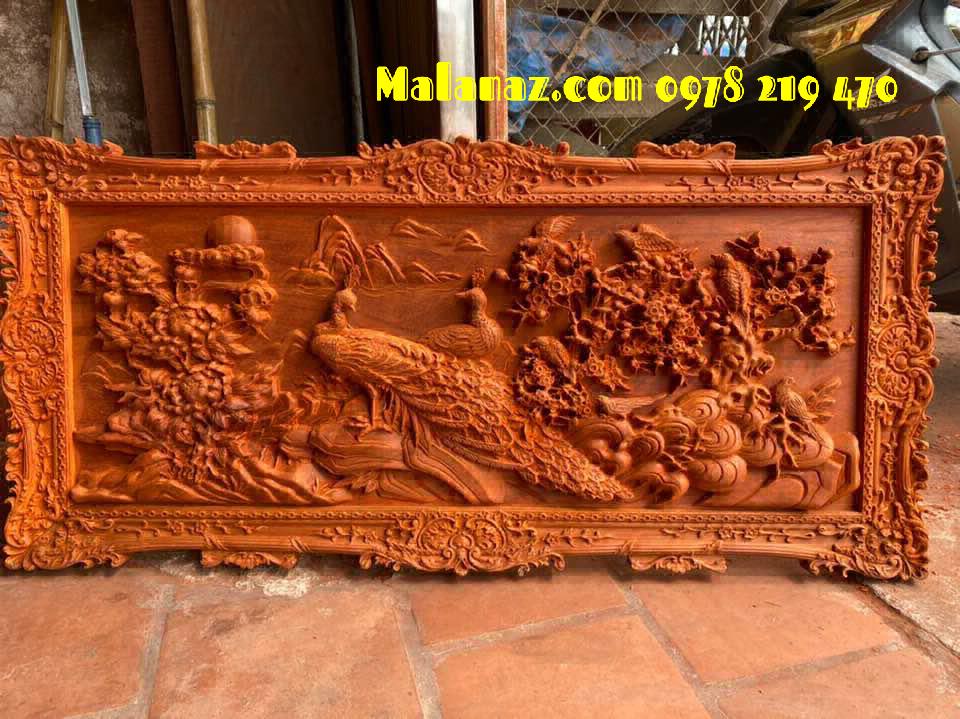 Tranh gỗ đục tay - Tranh gỗ phu thê vien mãn - Kt 112x52x4 - HD- CAMM Kt 112x52x4 - HD- CAMM (1)