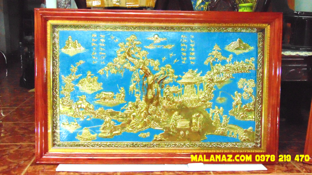 Mua tranh đồng TPHCM - Tranh đồng quê - KT 71 x 110cm - DDQ20