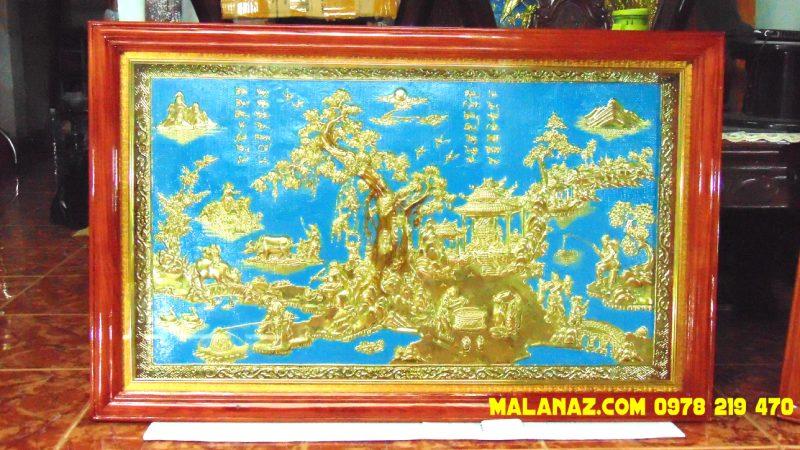 Mua tranh đồng TPHCM - Tranh đồng quê - KT 71 x 110cm - DDQ20A
