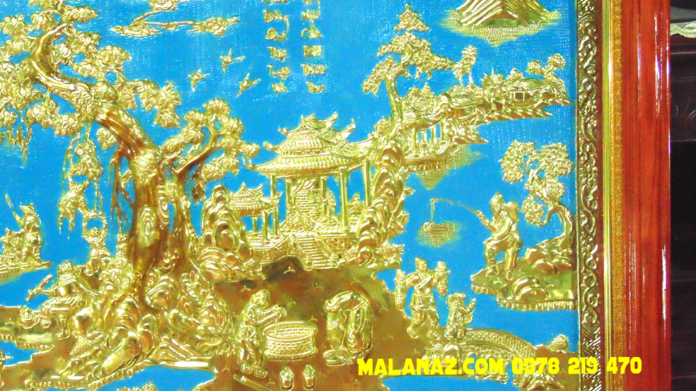 Mua tranh đồng TPHCM - Tranh đồng quê - KT 71 x 110cm - DDQ20 Giá tốt  hiên nay