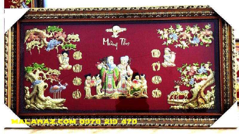 Tranh đồng cao cấp - Tranh Mừng Thọ - DMT01A