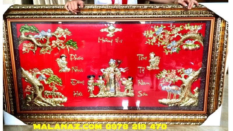 Tranh đồng cao cấp - Tranh Mừng Thọ - DMT02A