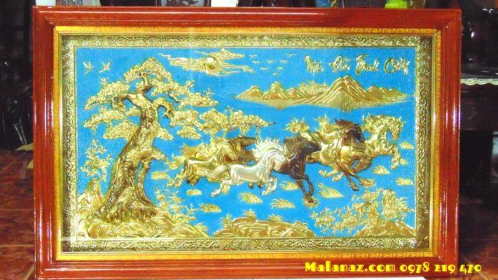 Tranh đồng mỹ nghệ - Tranh đồng mã đáo KT 71 x 110cm - DMD23