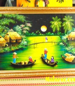 Tranh sơn mài Hà Nội - Tranh sơn mài đồng quê - MDQ35
