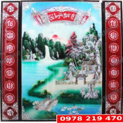 Bộ Liễng Sơn mài Khảm Trai - 126 x 126cm - 6700k