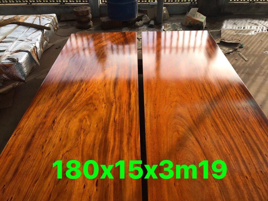 Sập chiếu ngựa gỗ gõ - 180 X 15 X 3m19A