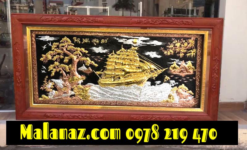 Tranh đồng dát vàng - KT 90 x170 - DTB24 (1)