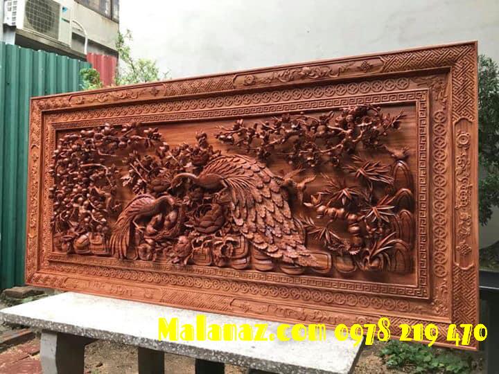 tranh gỗ cao cấp - phu thê viên mãn 83 x 1m75 x 9CM  -  MALANAZ SHOPPING