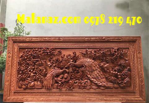 tranh gỗ cao cấp - phu thê viên mãn 83 x 1m75 x 9CM  -  MALANAZ SHOPPING  CUNG CẤP