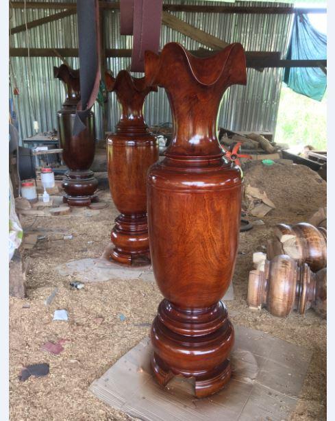 Lục bình gỗ lim - 180x54cm - VT05