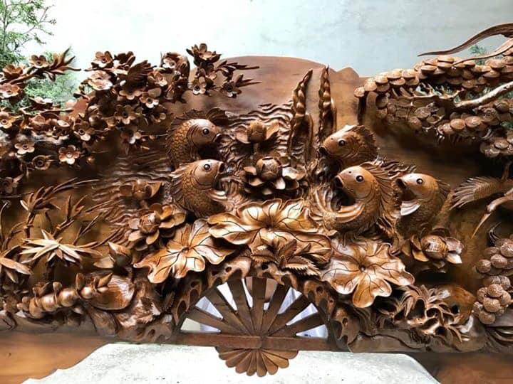 Tranh gỗ cao cấp - Viên mãn mãn mận nồng - DB23 Malanaz Shopping giao hàng toàn quốc