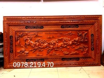 Tranh gỗ phong thủy - Tranh gỗ mã đáo 197X97X5cm - NQMD (1)