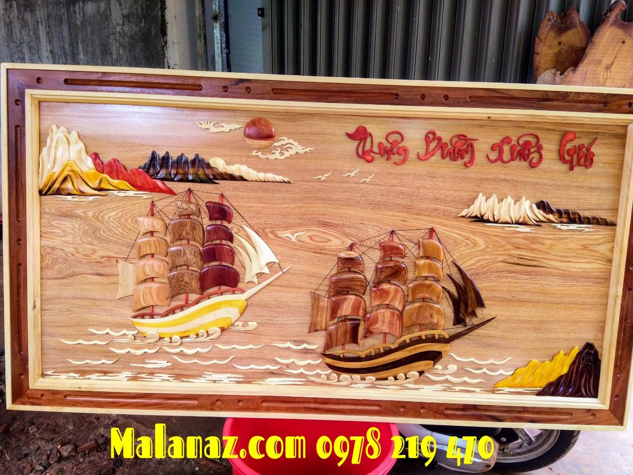 Tranh gỗ phong thủy - Tranh gỗ thuận buồm xuôi gió - DL01