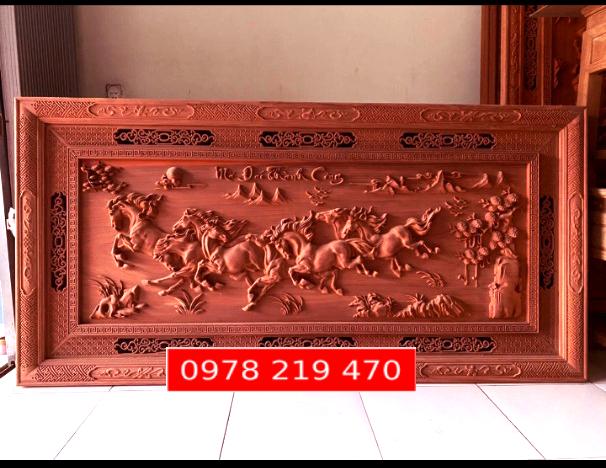 TRANH GỖ TREO TƯỜNG - TRANH MÃ ĐÁO - 237x117x 6.5cm NQ-AC.GT