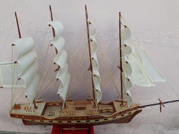 Cách làm thuyền gỗ mô hình KT Dài 95(thân85) x 22 x68cm - PT02B