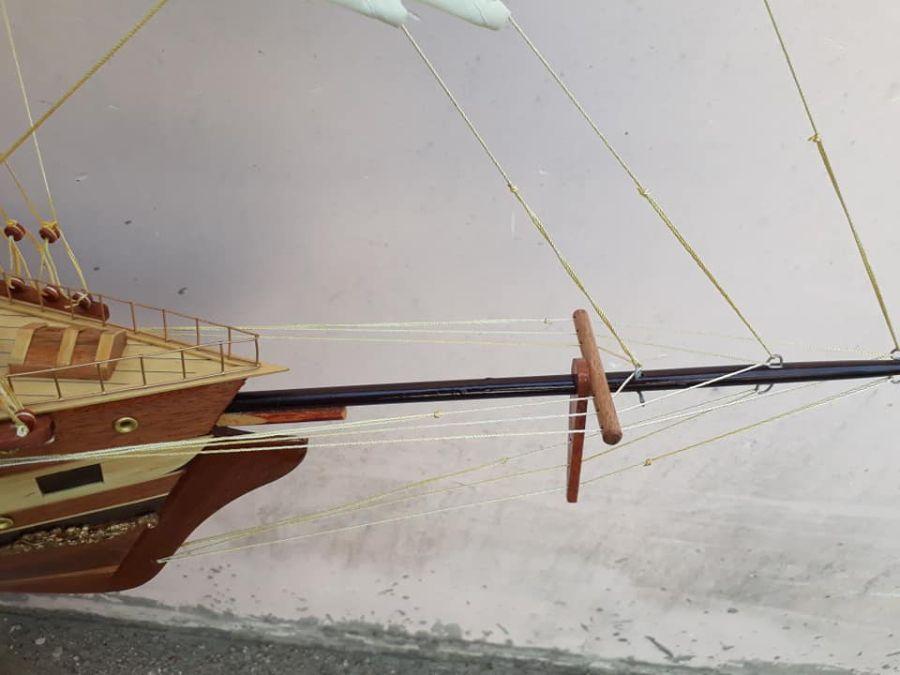 Cách làm thuyền gỗ mô hình KT Dài 95(thân85) x 22 x68cm - PT02B (1)