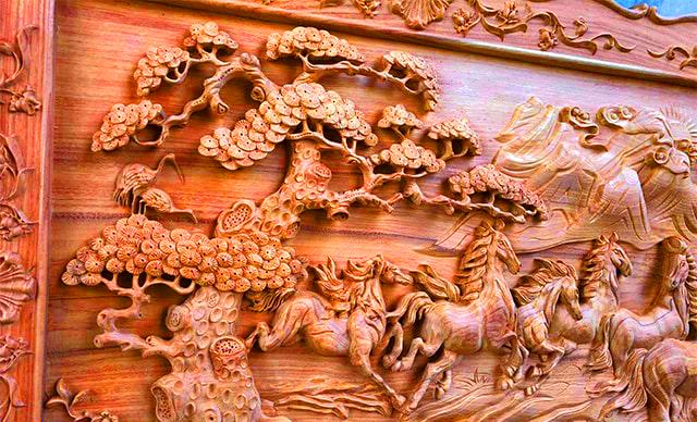 Mẫu Tranh Gỗ Bát Mã Truy Phong - hay Mã Đáo Thành Công Được các nghệ nhân bậc thầy điêu khắc kênh bong cực kì ... Malanaz Shopping