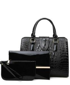 Túi xách nữ đẹp bộ 3 cái - thiết kế vân cá sấu - TX34F