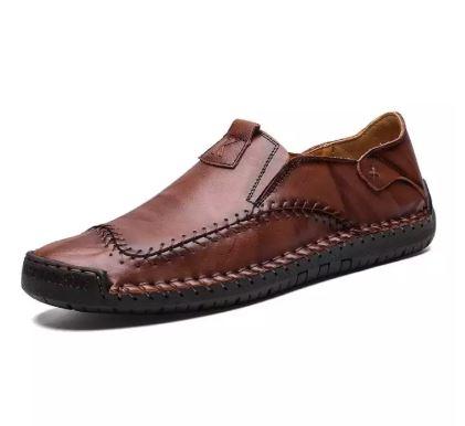 Đẹp Trai Phong Cách Anh Quốc - Giày Nam Giày Đế Bệt - Chất Liệu Da Thật -GD55A