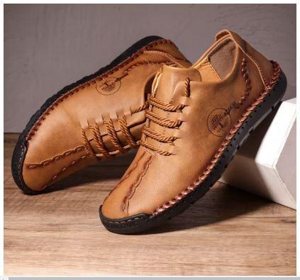 Giày Đế Bằng Phổ Biến Nhất Phong Cách Sành điệu - Giày Nam Giày Đệm Khí Bằng Da - GD79B