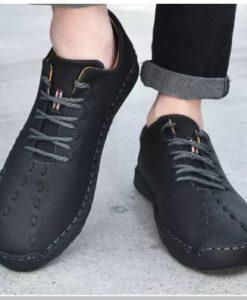 Giày Đế Bằng Phổ Biến Nhất Phong Cách Sành điệu - Giày Nam Giày Đệm Khí Bằng Da - GD79D
