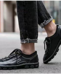 Giày Da Đơn Giản Người Đàn Ông Xây Dựng Da Thủ Công Giày Nam Mùa Xuân Mới - Kích Thước Lớn - GD78F