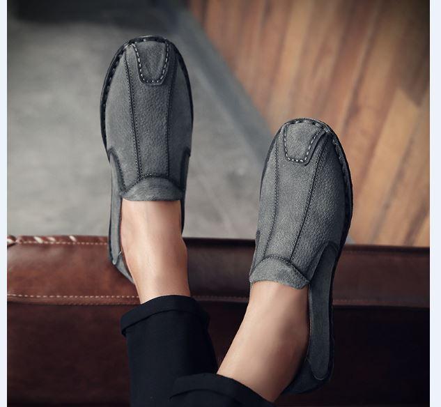 Giày Nam Mùa Xuân - Giày Retro Hàng Ngày Giày Nam - Giày Nam May Giày Thủ Công - GD81-17