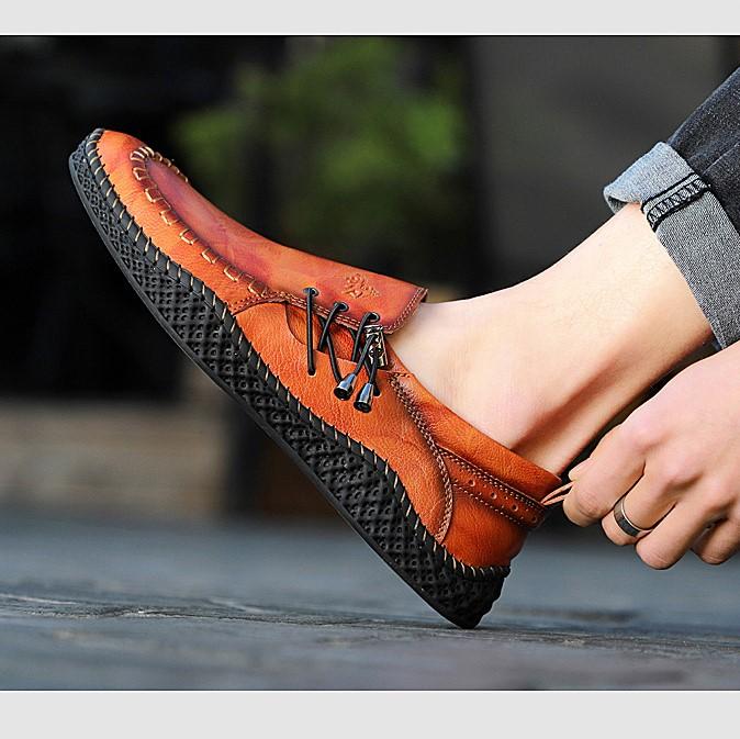 Giày Nam Mới - Giày Thời Trang Anh, Giày Da, Giày Thường Ngày Làm Bằng Tay, Đế Mềm Cho Nam, Giày Đơn Chống Mòn - GD90 -10