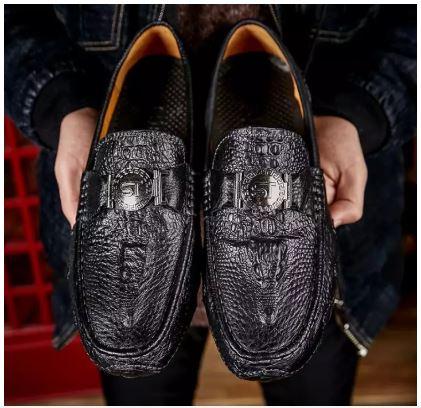 Nam Chất Lượng Cao Của Giày Trang Trọng Giày Lười Da Thật Nam Thoải Mái Của Giày Lái Xe Caual Giày Da Da Bò - GD83G