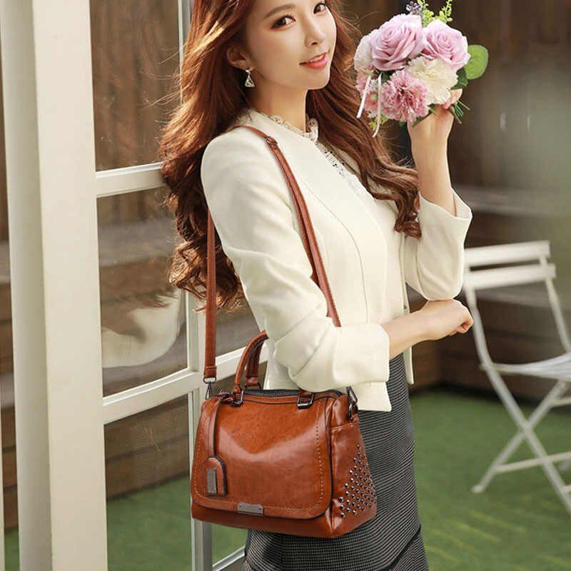Women Handbag Leather Small Doctor Bag Women - TX81B