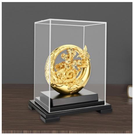 Quà tặng bản hiền - Vàng lá Thủ công mỹ nghệ Chúc phúc trường thọ Vàng 24K Lá vàng lá thông Bonsai Phong thủy Cầu phúc lộc -QLN25R