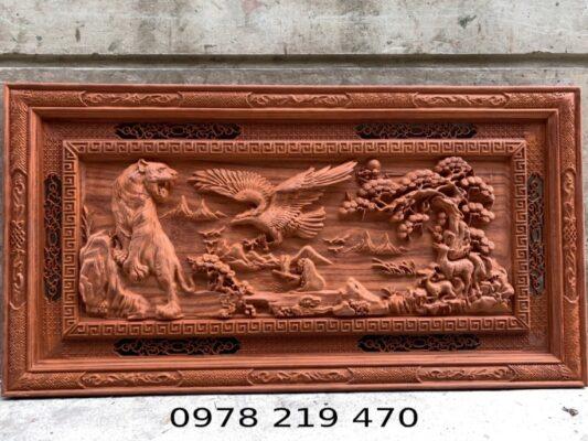 Tranh gỗ treo tường - Tranh gỗ Anh hùng tương ngộ - 155x79x5cm - AC 07 (1)