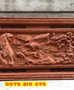 Tranh gỗ treo tường - Tranh gỗ Anh hùng tương ngộ - 155x79x5cm AC 07