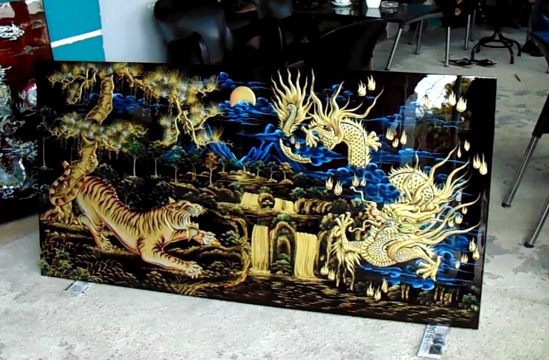 Tranh sơn mài sư tử - Malanaz Shopping