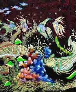 tranh-sơn-mài-cao-cấp-Cá-chép-xanh-malanaz-shopping