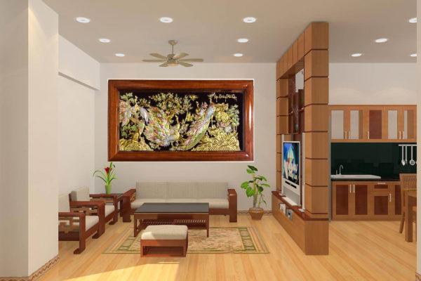 Tranh đồng đại bái - Tranh tặng khai trương - Tranh con công - TDC02 Malanaz .com salle